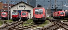 Lokparade in Innsbruck (The Rail Net) Tags: öbb innsbruck bahnhof