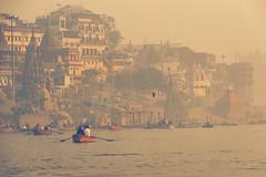 0955 Varanasi Ghats (Hrvoje Simich - gaZZda) Tags: outdoors city water boats people morning buildings varanasi india asia travel nikon nikond750 sigma150500563 gazzda hrvojesimich