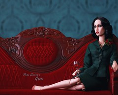 The quiet (pure_embers) Tags: pure embers doll dolls uk pureembers photography laura england superdoll sybarite onyx greta embersgreta portrait 40s 50s style classic elegant fashion collector vintage pinup outfit wine red