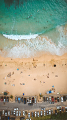 Sandy Beach on Oahu, Hawaii (Corey Rothwell) Tags: hawaii beach oahu sand ocean waves bodyboard cars aerial drone