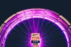 Manner Bar - Prater, Vienna (Sebastian Bayer) Tags: nacht dynamik blauestunde spas bewegung langzeitbelichtung metall lichtspuren attraktion prater riesenrad technik abend fahrgeschäft manner karussell wien