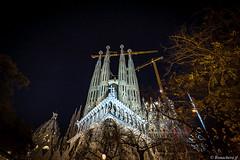 Barcelone-175 (bonacherajf) Tags: barcelona barcelone catalogne catalunya espagne espania spagna sagradafamilia cathédrale bynight nocturne poselongue longexposure