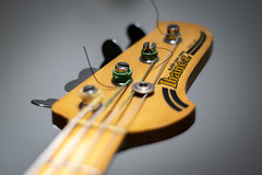 50/365 - Vintage bass (Ed Gloria) Tags: guitar mij ibanez bass 80s headstock blazer madeinjapan olympus zuiko 50mm f18 mojo