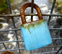 padlock (Jackal1) Tags: padlock metal rust blue object texture rural decay