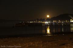 Snow Moon 3397 (All h2o) Tags: neah bay night moon moonrise evening harbor marina strait ocean sea coast beach peninsula pacific northwest olympic