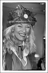 IMG_0186-6 Re-Edit (Scotchjohnnie) Tags: whitbysteampunkweekendfebuary2019 whitbysteampunkweekend steampunk costume portrait female whitby yorkshire northyorkshire people canon canoneos canon6d canonef24105mmf4lisusm scotchjohnnie blackwhite mono monochrome thepavillion