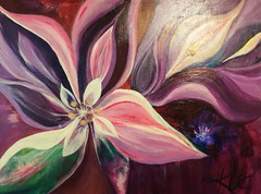 inbloom (rootsqueen124) Tags: art painting paintings acrylic floral foliage