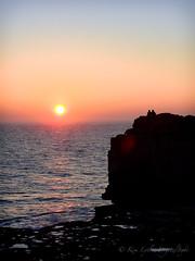 together (DigitalLyte) Tags: portland portlandbill pulpitrock englishchannel atlantic sunset couple waves rock silhouette sunladder dorset england uk
