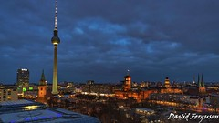 Berlin Skyline (Daveoffshore) Tags: berlin germany skyline dusk evening hour cloud berliner fernsehturm blue