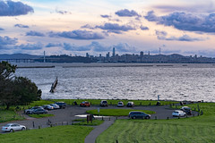 """Around"" San Francisco (alessio.vallero) Tags: berkeley california unitedstatesofamerica us césar chávez park circle cars view wind cityscape landscape bayarea tripod telephoto grass san francisco clear sky city water pier marina clouds land sony"