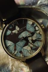 Time flies (tanith.watkins) Tags: watch butterflies timepieces macromondays macro motherofpearl