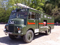 6307 - Royal Navy - RXP 727 - 1011872 (Call the Cops 999) Tags: uk gb united kingdom great britain england 999 112 emergency service services vehicle vehicles brooklands museum open day bank holiday monday 5 may 2018 fire and rescue rn royal navy bedford green goddess rxp 727 preserved