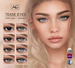 Tease Eyes (Avi-Glam) Tags: aviglam ag sl second like mesh eyes omega catwa genus appliers
