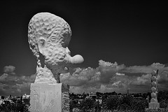 Beyond the sea (2) (Phancurio) Tags: ayianapa cyprus sculpture monochrome