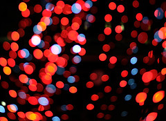 51 Party (manxmaid2000) Tags: lights oof bokeh red christmas night circles abstract lens holiday party focus illumination decoration blur round fuji