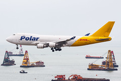 Polar Air Cargo B747-400F N452PA 003 (A.S. Kevin N.V.M.M. Chung) Tags: aviation aircraft aeroplane airport airlines plane spotting hkg boeing b747 747 jumbo jet cargo queen appoach landing b747400f