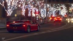 Ferrari F50 (Matze H.) Tags: ferrari f50 gt sport gran turismo christmas japan night street wallpaper 4k uhd hdr playstation 4 pro