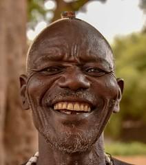 Dassanech Elder (Rod Waddington) Tags: africa african afrique afrika äthiopien ethiopia ethiopian ethnic etiopia ethnicity ethiopie etiopian dassanech dassanach traditional tribe tribal culture cultural elder warrior smile outdoor portrait people omovalley omo omoriver outdoors