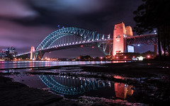 Sydney Harbour Reflections (trentbartley) Tags: nightscape cityscape sydney harbour bridge