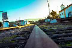 Beira Railway Station (enrique.torrens) Tags: portugal beira alentejo raylway station train cold sunset nikon d3200