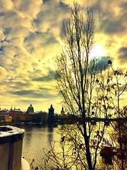 Prague | Czech Republic (maryduniants) Tags: vltava river europe cityscape winter clouds czechrepublic praha praga prag prague