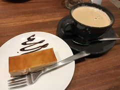 Caramel Cake and Coffee (Phreddie) Tags: sweets cake caramel coffee cafe restaurant relax tokyo japan weekend break