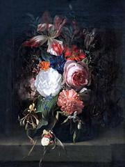 IMG_5670A Rachel Ruysch 1664-1750.Amsterdam  Nautre morte aux fleurs    Still Life with Flowers. 1691.  Hambourg Kunsthalle. (jean louis mazieres) Tags: peintres peintures painting musée museum museo deutschland germany allemagne hamburg kunsthalle