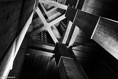 IMG_3020 (cachalo60) Tags: augusteperret église lehavre architecture seinemaritime graphique canon6d canon tamron vitraux noiretblanc nb