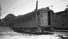 W&OD #41 At Rosslyn (DJ Witty) Tags: wod washingtonolddominion interurban bw blackwhite blackandwhite rr railroad trolley