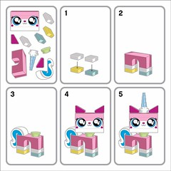 Staticker Unikitty - Instructions