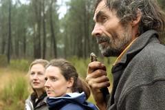 Rachel Léobet, Isabelle Ortusi-Mouton, la responsable de la ferme conservatoire du Domaine de Jarry et Jean-Michel Le Corre
