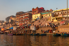 Varanasi, India (Ninara) Tags: varanasi india uttarpradesh ghat ganges ganga gangaaarti sadhu nagasadhu sunrise morning bathing holycity kedarghat kashi benares