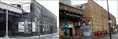 Elephant And Castle Station`1952-2019 (roll the dice) Tags: london southwark se1 thameslink old surreal vanished demolished rough dirty graffiti local history crime retro bygone streetfurniture architecture trains travel mad sad oldandnew pastandpresent hereandnow urban england fashion passengers uk classic art entrance platform ww2 canopies viaduct nationalrail windows lights broken changes collection canon tourism tourists regeneration walworth cctv haig booze whisky pipes dish transport