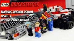 Building Arkham Asylum - Update #3 - Restricted area & Batmobile (bricksfeeder) Tags: batverse bat room evidence building area manor batmobile arkhamasylum asylum arkham youtube progress wip creation moc lego