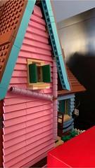Adding details #3: the violet gutter on the backside (markfaving) Tags: house violet pink gutter moc ideas lego pixar up disney 3