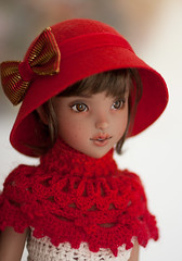 Miss Little Red Riding Hood (Salerosa) Tags: youpla youpladolls bjd doll ophelie