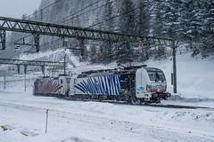 193 772 Lokomotion Brenner Austria 01.02.19 (Paul David Smith (Widnes Road)) Tags: brennerpass brennero snow 193772 lokomotion brenner austria 010219 siemens vectron