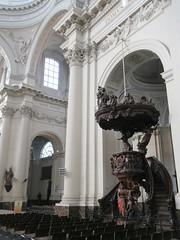 Ornate pulpit, Cathédrale Saint-Aubain, Namur, Belgium (Paul McClure DC) Tags: namur namen belgium belgique wallonia wallonie ardennes feb2018 cathedral historic architecture
