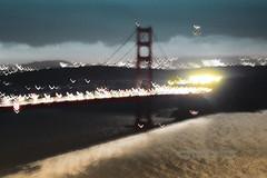 North Tower of the Golden Gate Bridge in the Evening Glow (Vern Krutein) Tags: hills goldengatebridge suspensionbridge ggb landmark sanfrancisco california architecture travel scenics structure city american usa historic history archives tower cityscape skyline lights night nighttime evening csfpcd0657010