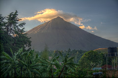 Mount Muhabura (pbr42) Tags: uganda hdr kisoro outdoor sky landscape tree trees volcano mountain cloud africa