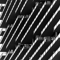 Linear Balconies (2n2907) Tags: abstract architecture photo balcony balconies lines monochrome skyscraper olympus omd mirrorless dallas texas