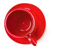 Red cup (ChargedOne) Tags: red white cup saucer plate dish background ceramics crockery utensil tableware ware cookware cooking color colorful light bright beautiful scarlet topview kitchen drink beverage mug