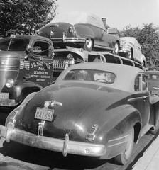 Dodge cabover: JH Sprecher inc #65 (PAcarhauler) Tags: carcarrier chrysler coedodge truck trailer