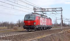 OBB 1293 009 Tavazzano 23/02/2019 (giorgio.dalex) Tags: obb 1293 vectron rossa lis