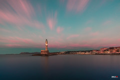 Lighthouse (Snoopix_) Tags: sony a6000 a6k ilce6000 nd1000 hoya longexposure bluehour clouds sea sky pink lighthouse oldharbour chania crete greece samyang 12mm