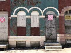 Former Cab Calloway Family Residence, 2216 Druid Hill Avenue, Baltimore, MD 21217 (Baltimore Heritage) Tags: baltimore demolition druidheights druidhillavenue entrance maryland rowhouse vacantbuilding