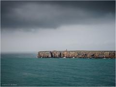 Cape Sagres seen from Ponta da Atalaia (Luc V. de Zeeuw) Tags: atalaia cape cloudy ocean pontadaatalaia rock sagres water algarve portugal