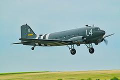 Douglas C-47A Dakota 2100884 (N147DC) (alex kerr photography) Tags: douglas dakota c47skytrain ww2 transport duxford plane aircraft