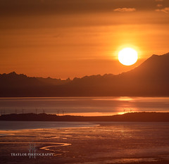 FIRE (Traylor Photography) Tags: fireisland anchoragealaska mudflats tide flattop fire glenalps sunset anchorage alaska unitedstatesofamerica us