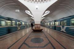 Sokol (gubanov77) Tags: sokol metro subway underground moscow moscowmetro russia metropoliten station platform trains transport urban city cityscape symmetry architecture